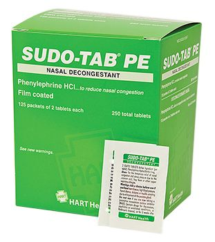 SUDO-TAB PE DECONGESTANT 125/2'S BOX
