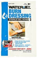 WATER-JEL BURN DRESSING, STERILE, 4X4