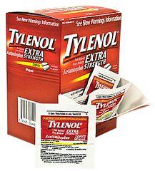 TYLENOL EXTRA-STRENGTH, CAPLETS, 50/2'S