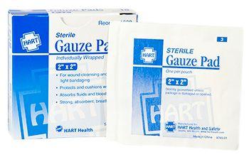 "GAUZE PADS, STERILE, 2""X2"", 10/BOX"