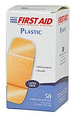 "ADHESIVE BANDAGES, WC, PLASTIC, 2""X4"", 50/BOX"