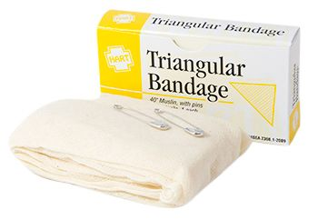 TRIANGULAR BANDAGE, HART, MUSLIN, 1/UNIT