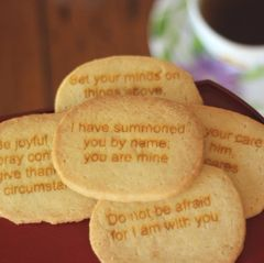 Scripture Cookies, OVAL 12 pcs