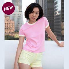 American Apparel Womens Ringer T-shirt