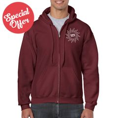 Gildan Heavy Zip Hoodies Special Printing Deal