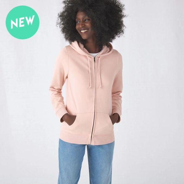 B&C Organic Womens Zip Hoodie