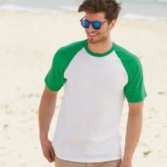 Fruit of the Loom Short Sleeved Baseball T-shirts