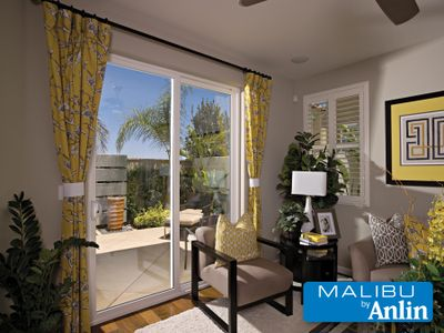 picture of Malibu door by Anlin in a family room.
