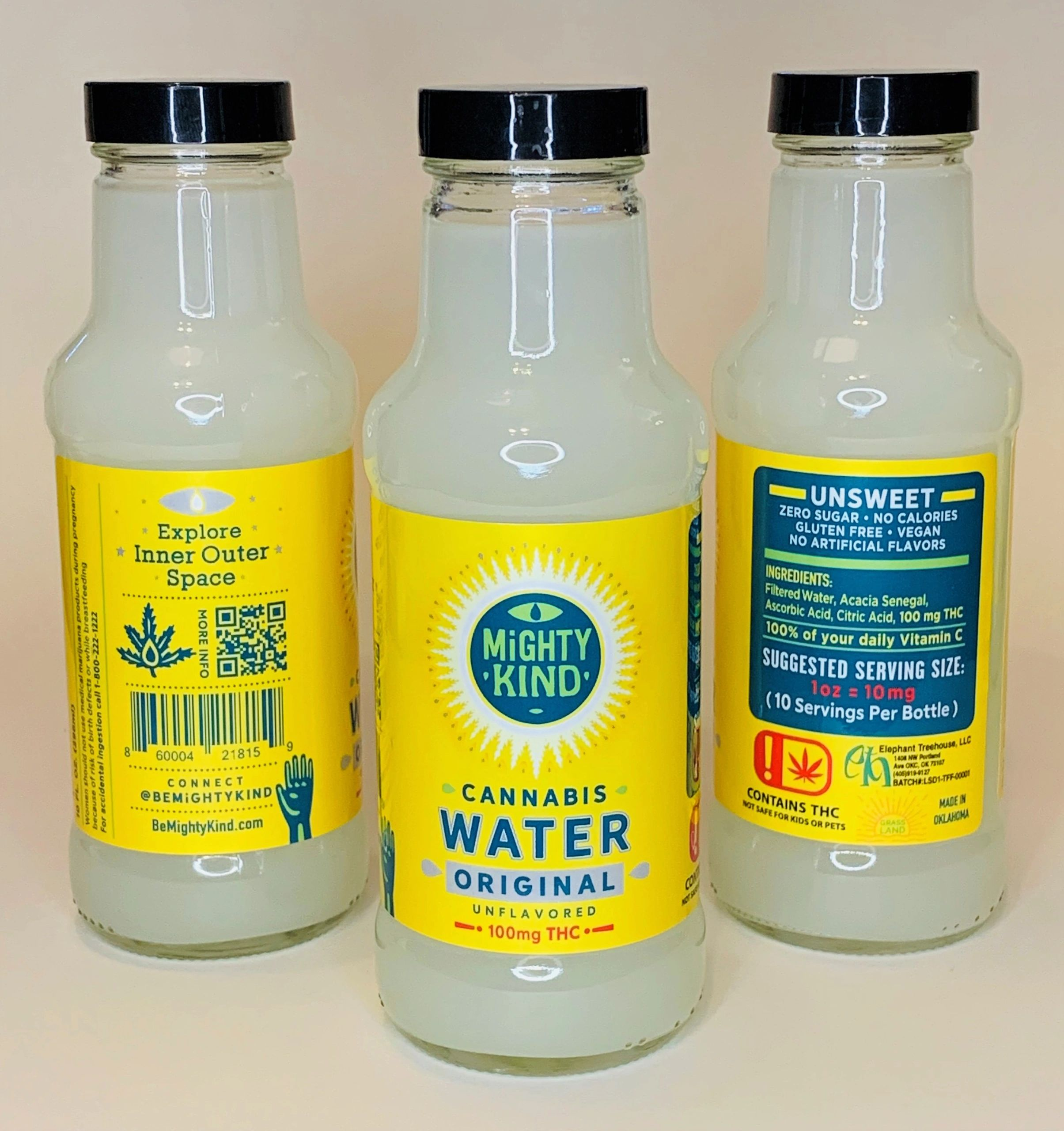 Mighty Kind Original C#OriginalCannabis Water #OGcannabiswaternnabis Water-No Sugar-No Flavor-No Add