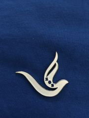White Dove Lapel Pin