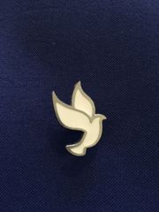 Small White Dove Lapel Pin