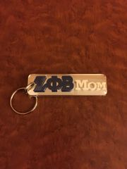 Mirrored mom keychain
