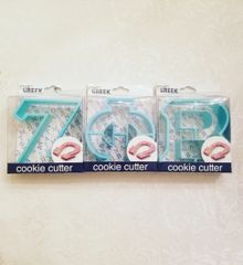ZPB Greek Letter Cookie Cutters