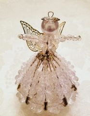 Clear Christmas Angel Ornament