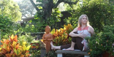 Yoga in the Chakra garden