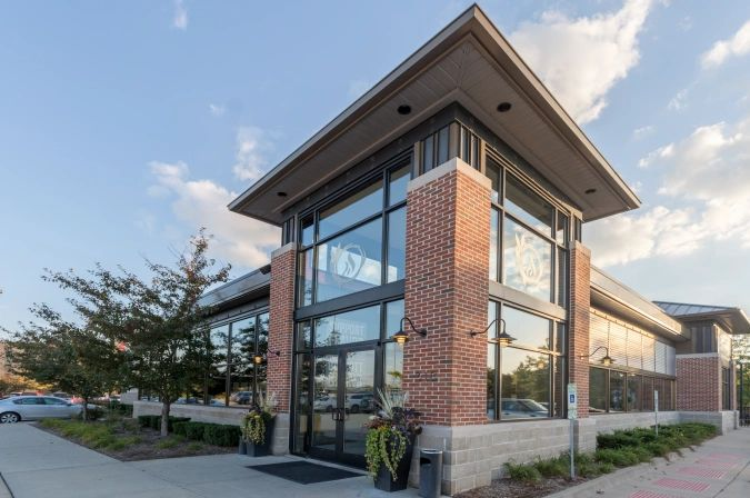 Exterior image of DESTIHL Restaurant & Brew Works in Normal, IL