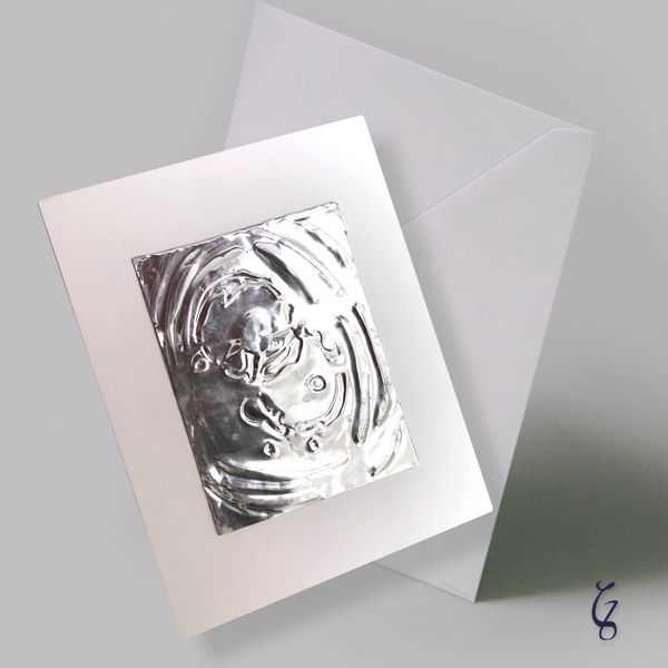 Embossed Pewter Blank Cards - Set of 2