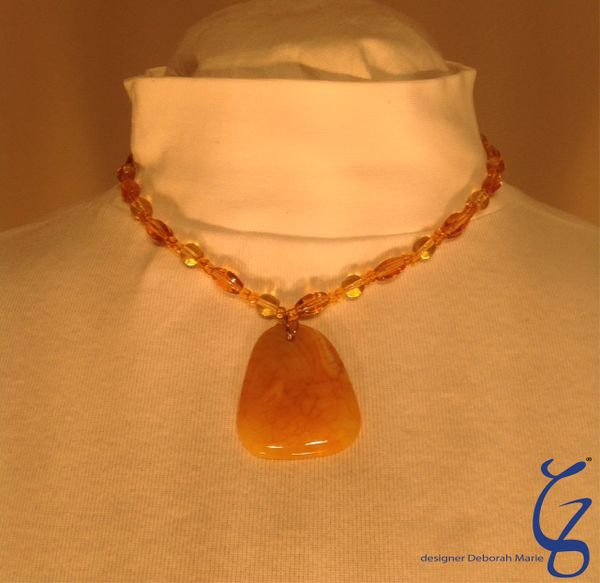 Yellow Agate Pendent