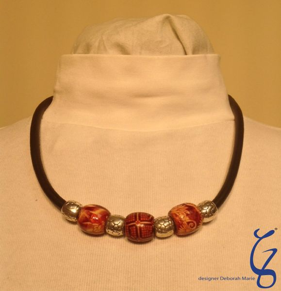 New Zealand Beads with German Soft Leather-SOLD
