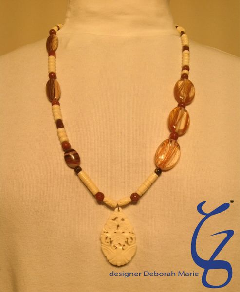 Ivory Butterfly Pendent