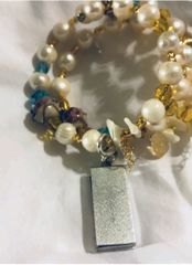 Pearls and Yellow with USB - CUSTOM REQUEST - SOLD