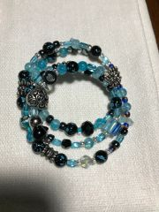 BLUE BLACK LOVE - CUSTOMER DESIGN - SOLD