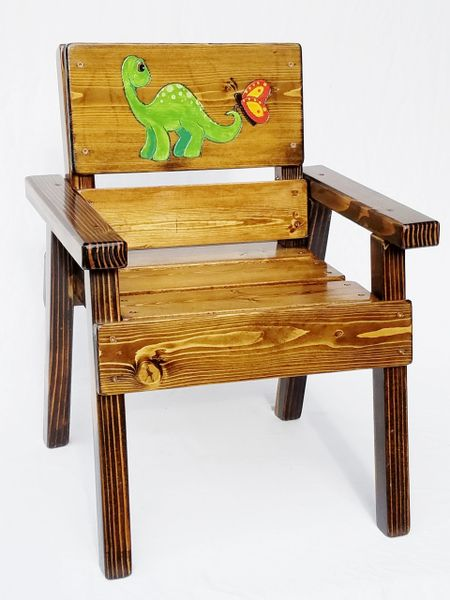 Astonishing Kids Outdoor Furniture Solid Wood Dinosaur Chair Toddler Boy Girl Gift Inzonedesignstudio Interior Chair Design Inzonedesignstudiocom