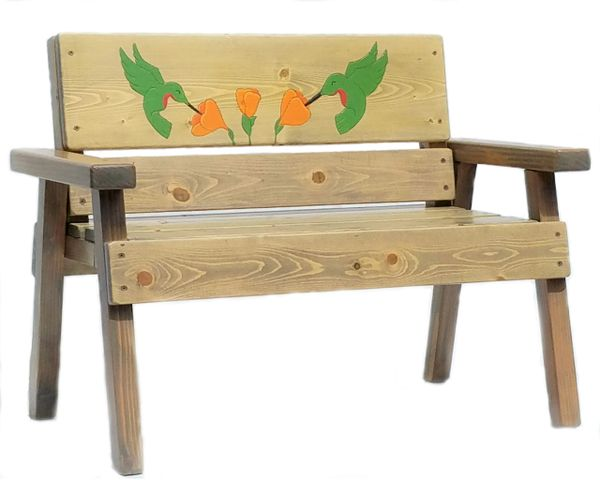 Happy Kids Garden Bench Hummingbird Design
