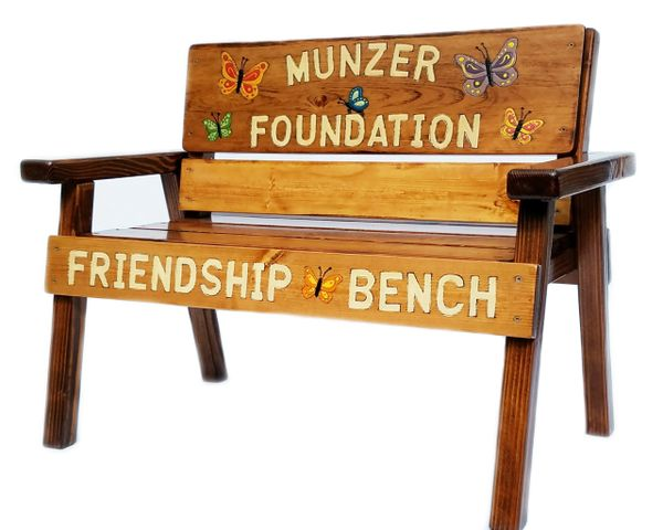 Preschool or Daycare Gift, Kids Wood Bench Personalized Engraved and Painted