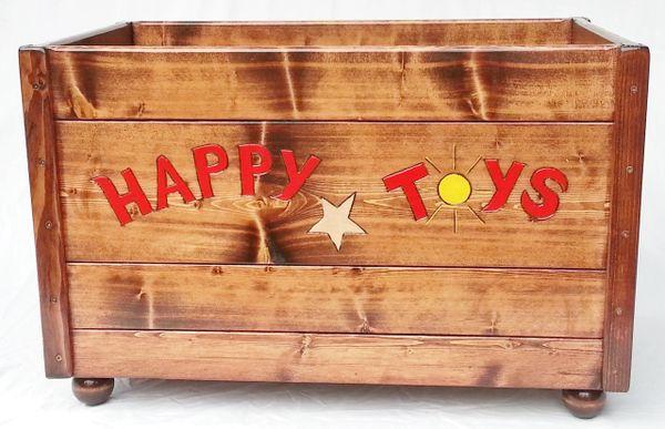 Happy Toy Box, Large Wood Storage Chest Boy / Girl