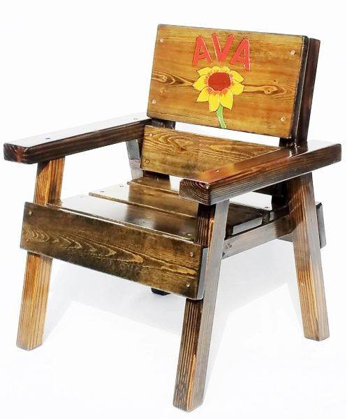Awesome Kids Outdoor Furniture Personalized Wood Chair Inzonedesignstudio Interior Chair Design Inzonedesignstudiocom