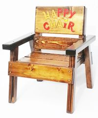 Forget Time Out - Kids Wood Happy Chair, Children's Outdoor Furniture