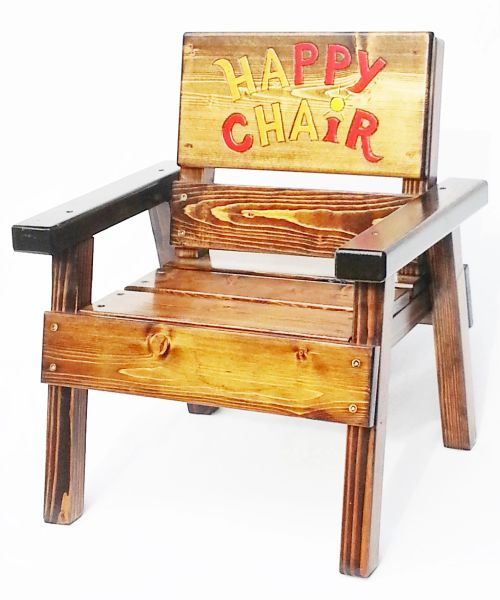 Kids Happy Chair, Solid Wood Children's Outdoor Furniture