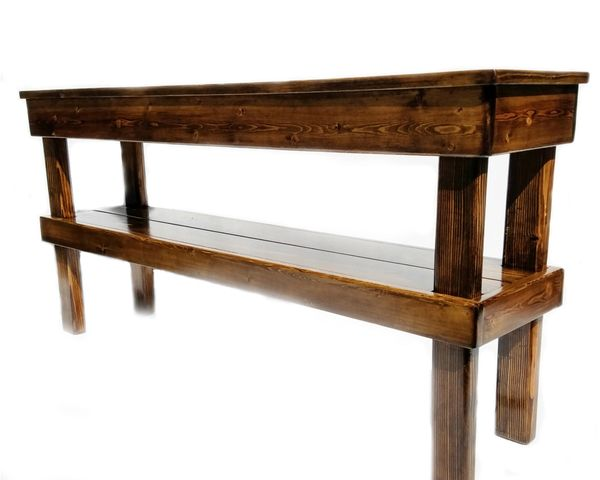 Farmhouse Media Table, Rustic Console or Entry Table