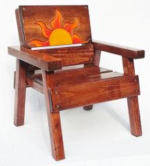 Sun Chair Celestial, Kids Outdoor Wood Furniture