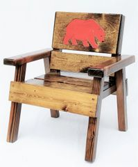 Kids Outdoor Wood Chair, Childrens Furniture Big Bear Design