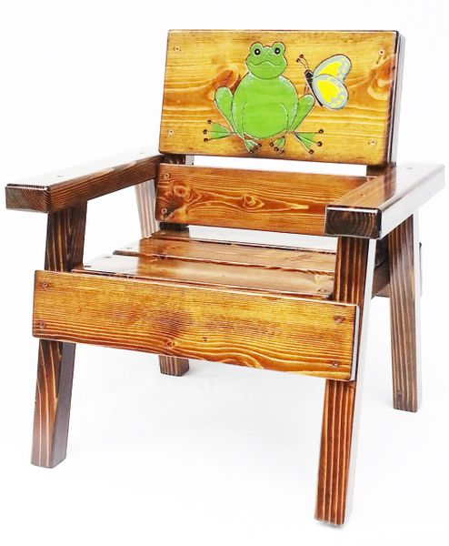 Happy Chair Kids Outdoor Furniture Frog and Butterfly Design