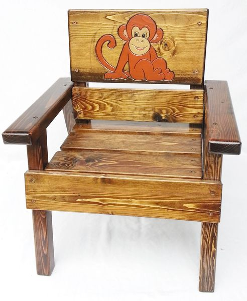 Enjoyable Happy Chair Kids Outdoor Wood Furniture Monkey Design Caraccident5 Cool Chair Designs And Ideas Caraccident5Info