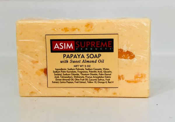 Papaya Soap w/ Sweet Almond Oil ( 5 oz.)
