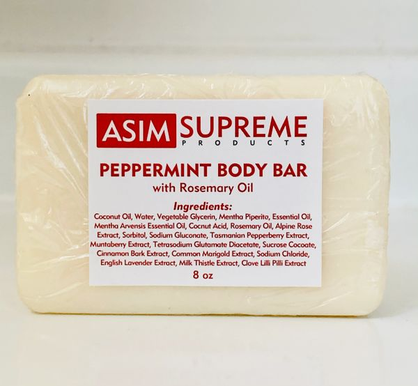Peppermint Body Bar w/ Rosemary Oil ( 8 oz.)