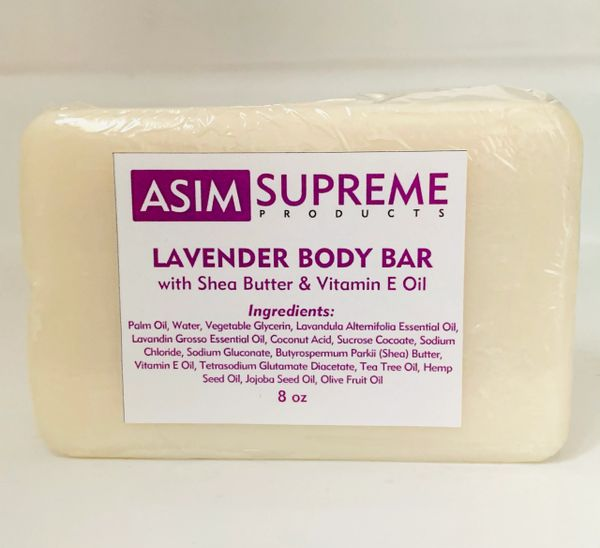 Lavender Body Bar w/ Shea Butter & Vitamin E Oil ( 8 oz.)