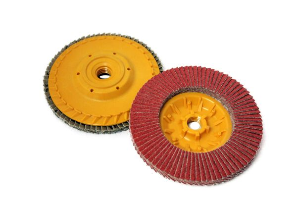 "5""x5/8""-11 CERAMIC FLAP DISC W/ PLASTIC BACK"