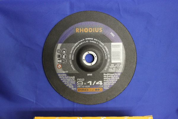 GRINDING DISC FOR STEEL RS2 9 X 1/4 X 7/8