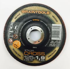 "RHODIUS BRAINTOOLS XTK35 CROSS GRINDING & C/O WHEEL 5""x.075""x7/8"""