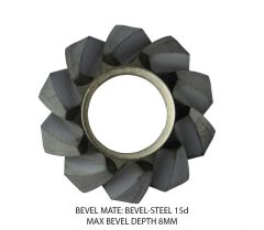 Bevel Mate Bevel Heads - Steel Max Bevel 8MM