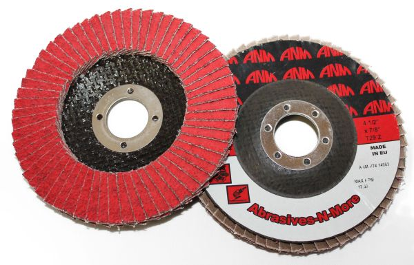 "4""x3/8""-24 CERAMIC FLAP DISC W/ FIBERGLASS BACK"
