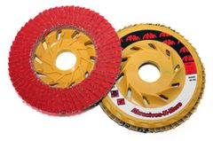 "4-1/2""x7/8"" CERAMIC FLAP DISC W/ PLASTIC BACK"