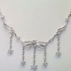 18K W/G Diamond Necklace