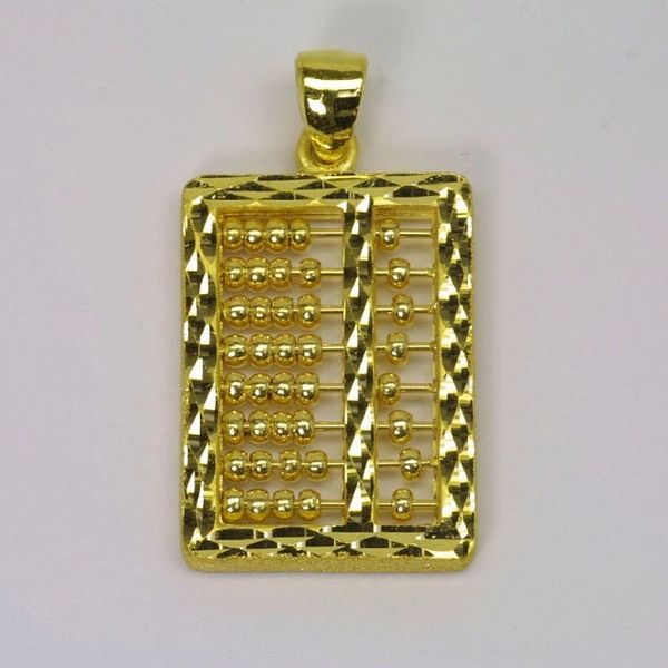 24K Gold Abacus Pendant