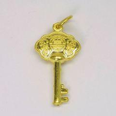 24K Gold Key Pendant